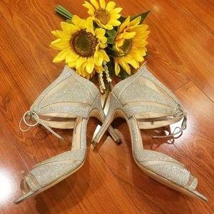 Nina Silver Heel Size 9  Stunning/ Sexy Pair